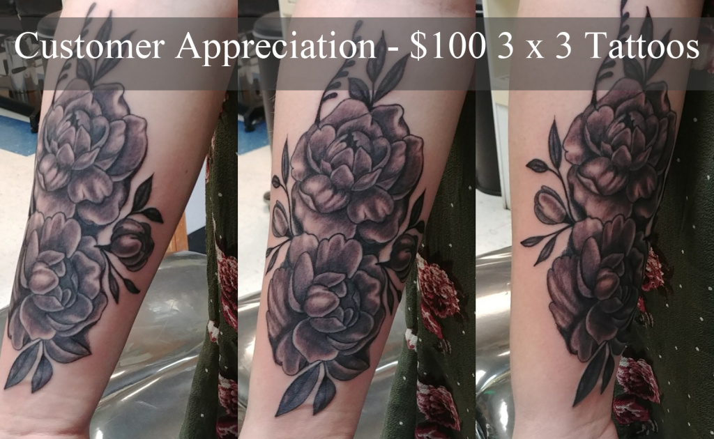 Customer Appreciation - $100 3 x 3 Tattoos